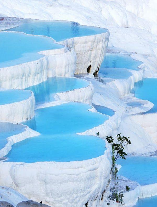 Natural Rock Pools Pamukkale Turkey Magical Destinations Pinterest (1)
