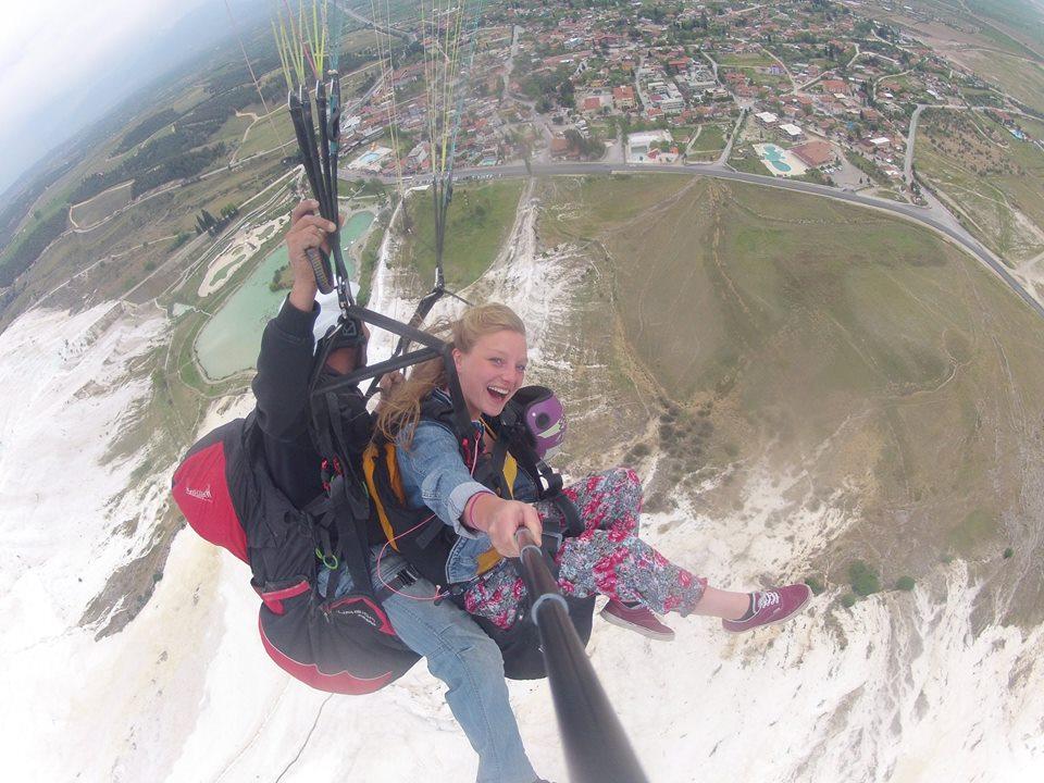 Paragliding Above Pamukkale