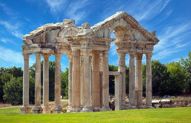 Turkey Pamukkale Tetrapylon Gate Aphrodisias